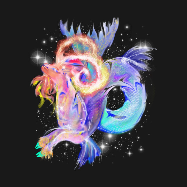 Colorful Rainbow Capricorn Symbol Image Astrology Zodiac Art