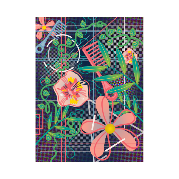 FLOWERS AND COMBS