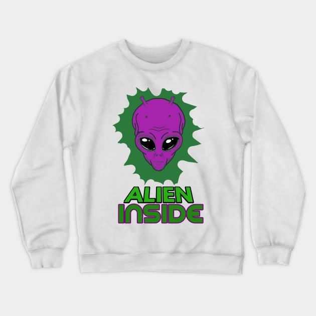 Fangs Adult Crewneck Sweatshirt Alien