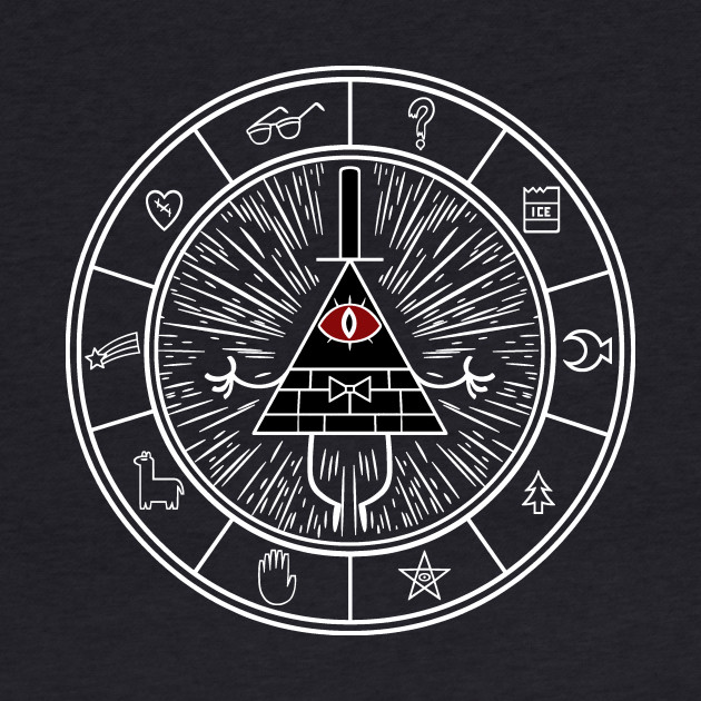 Gravity Falls Bill Cipher Wheel