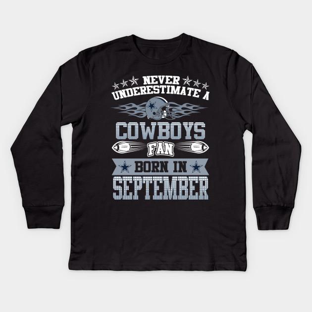 46b83012 Premium Shirts for Dallas Cowboys Fans born in September