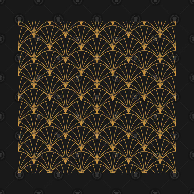 Vintage Geometric Pattern Art Deco