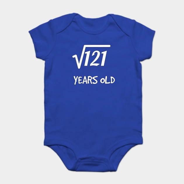 Square Root Of 121 11th Birthday 11 Years Old Boy Girl Onesie