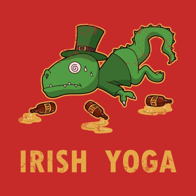 Irish Yoga T Rex St Patricks Day
