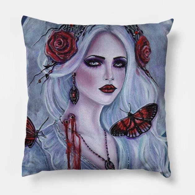 Broken eyes vampire woman version 2 by Renee Lavoie