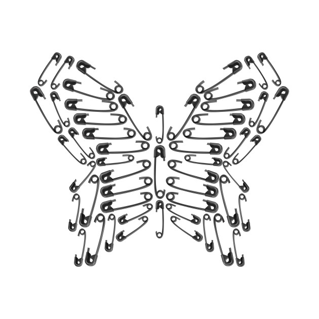 Safety Pin Butterfly