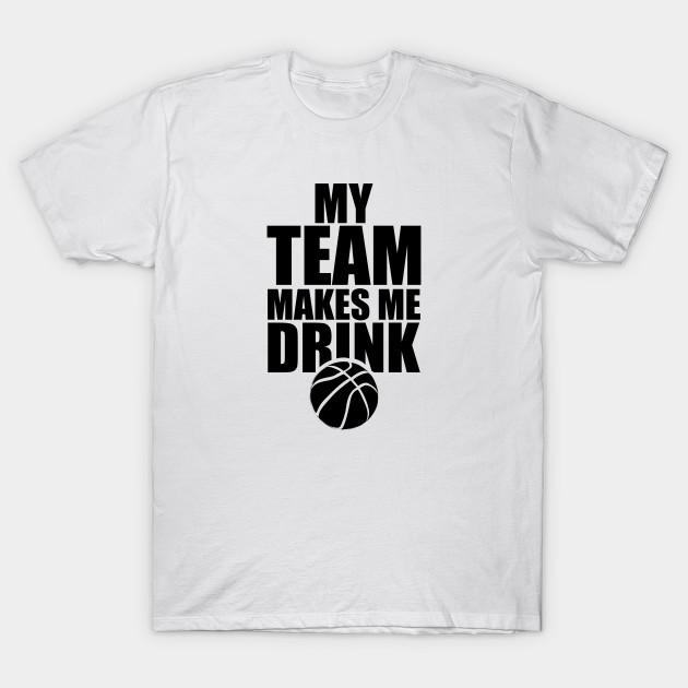 NBA Basketball Team Drink - Basketball - T-Shirt  0794a297b