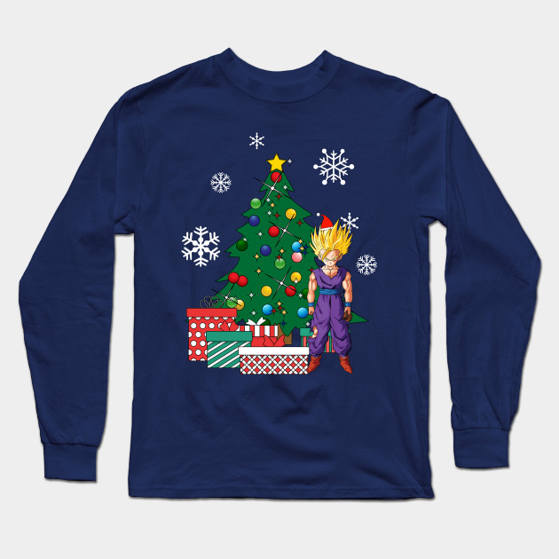 Gohan Around The Christmas Tree Dragonball Z Long Sleeve T Shirt