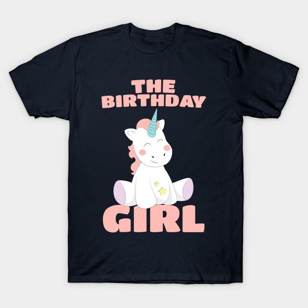 b8da08cf The Birthday Girl - Happy Birthday Magical Unicorn - Cartoon Pony ...