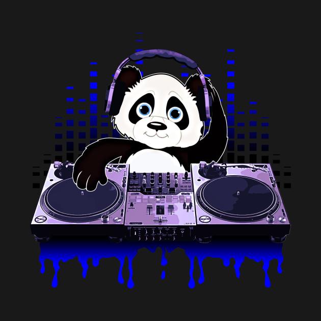 Cool Panda DJing Scratching By Basement Mastermind