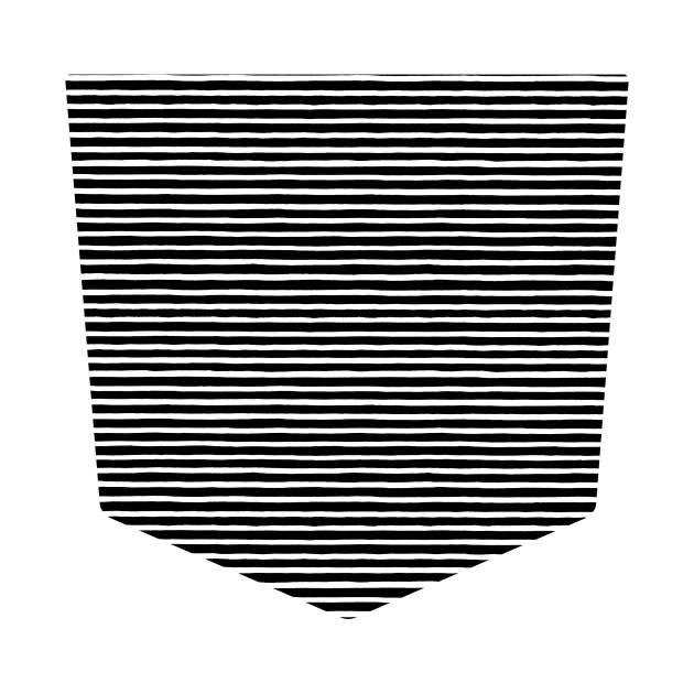 Pocket - Marker Black Stripes