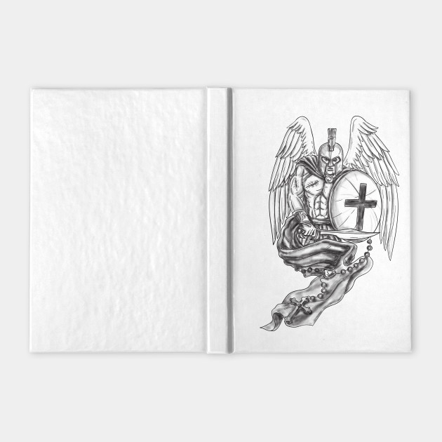 ded1e7490998e Spartan Warrior Angel Shield Rosary Tattoo Spartan Warrior Angel Shield  Rosary Tattoo ...