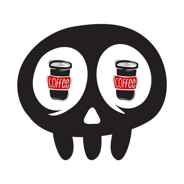 Skull love cofee