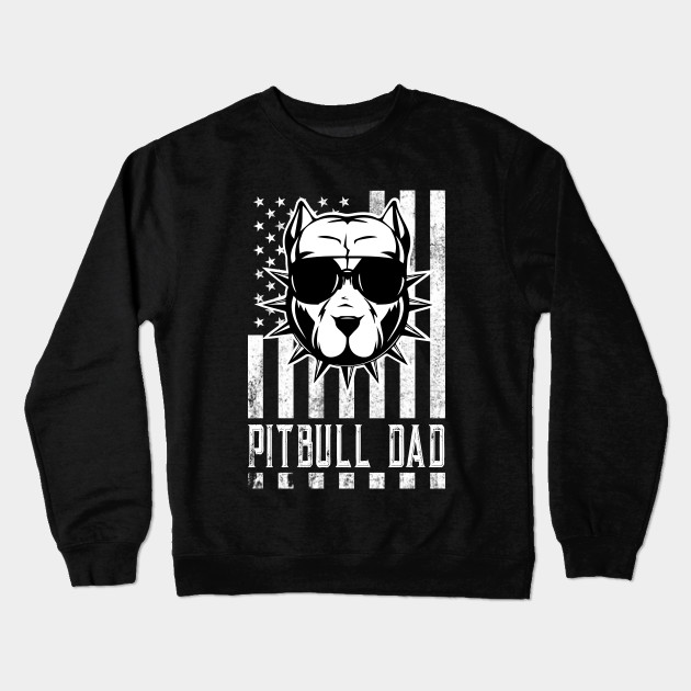be1ba289 Pitbull Dad Shirt Proud American Pit Bull Dog Tshirt Crewneck Sweatshirt