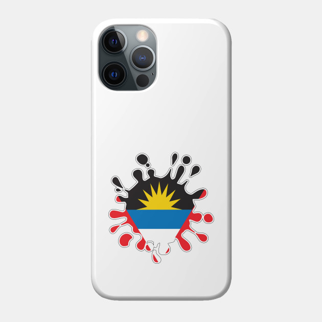 Antigua and Barbuda National Flag Paint Splash