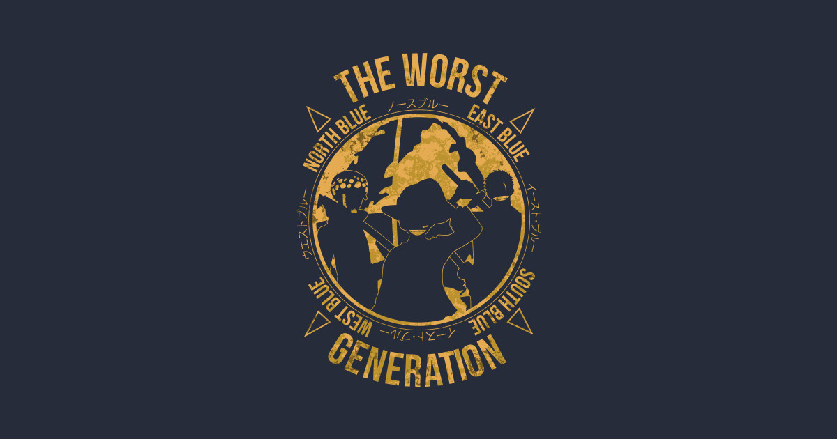 one piece the worst generation new world t shirt. Black Bedroom Furniture Sets. Home Design Ideas
