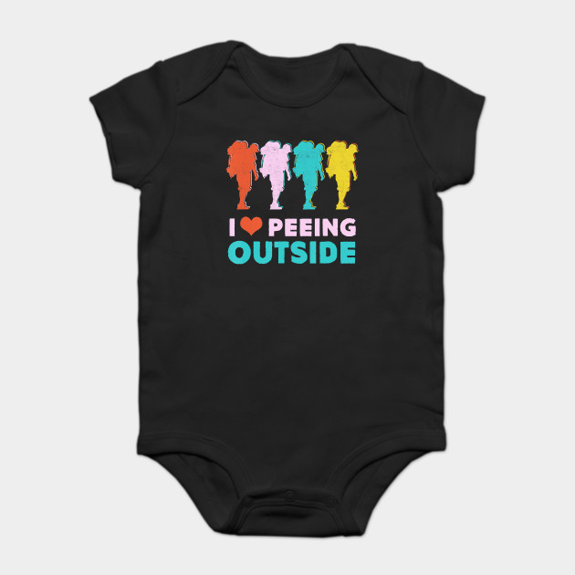 Camping Hiking Gift- I Love Peeing Outside- Hiker T-Shirt