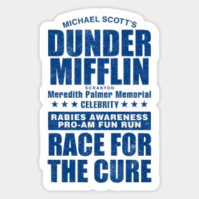 3c255078 Celebrity Rabies Awareness Fun Run Race for the Cure Sticker