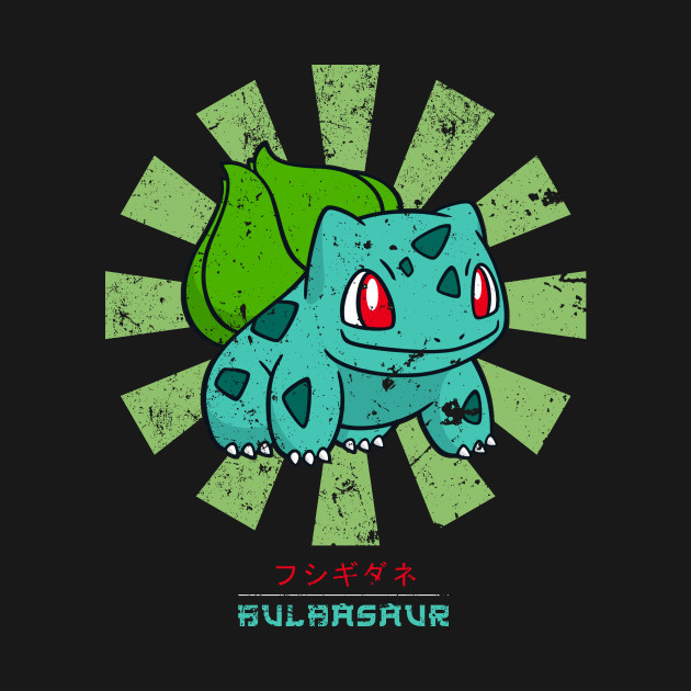 Bulbasaur Retro Japanese Pokemon