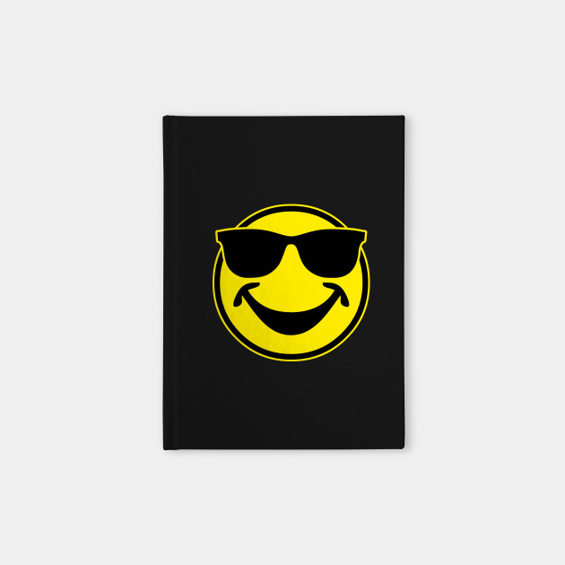 c05d3d8be6ef COOL yellow SMILEY BRO with sunglasses - Smile - Notebook | TeePublic