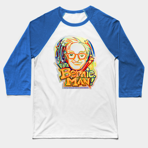 Vote BERNie , MAN !  Ink Brush Illustration Baseball T-Shirt