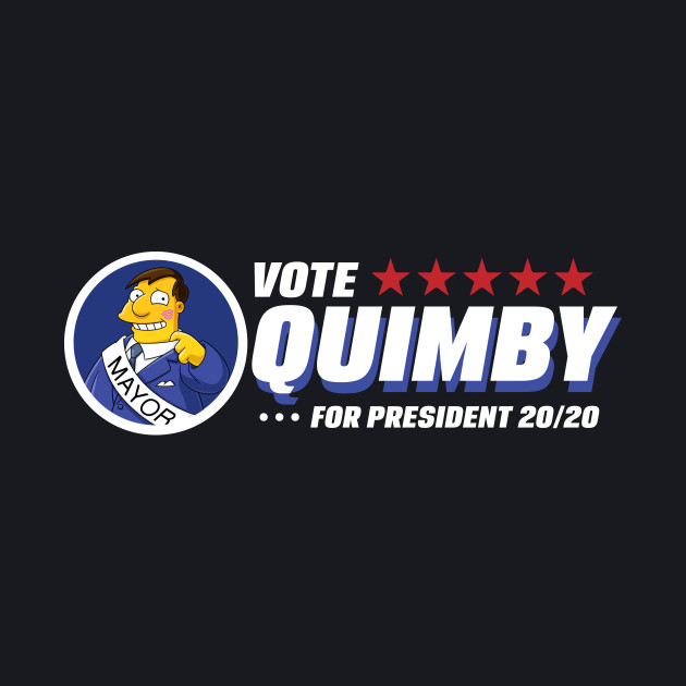 Vote for Quimby The Simpsons