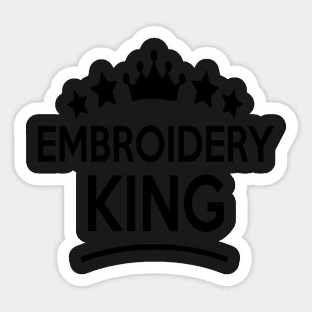 Embroidery King Stars T Shirt Embroidery King Stars Sticker