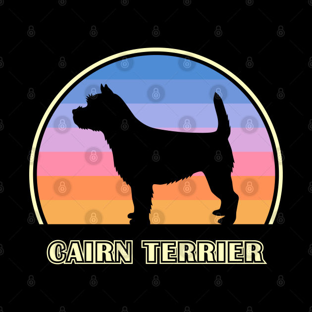 Cairn Terrier Vintage Sunset Dog