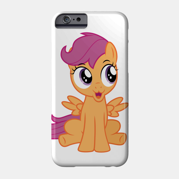 Excited Scootaloo My Little Pony Phone Case Teepublic An older, mellower scootaloo relocates to the crystal empire, tasked with tutoring a jumpy junior princess. teepublic