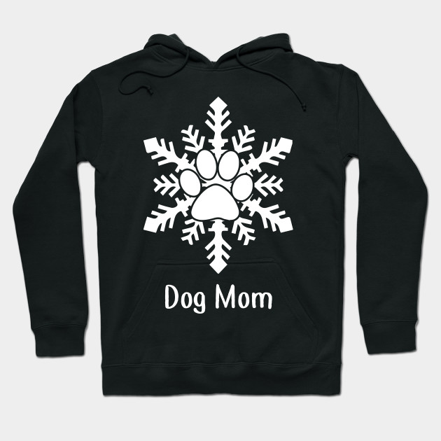 Snow Dog Paw Christmas Gift For Dog Lovers Hoodie