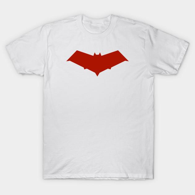 Batman DC RED HOOD SYMBOL Logo S-2XL Black Adult T-Shirt
