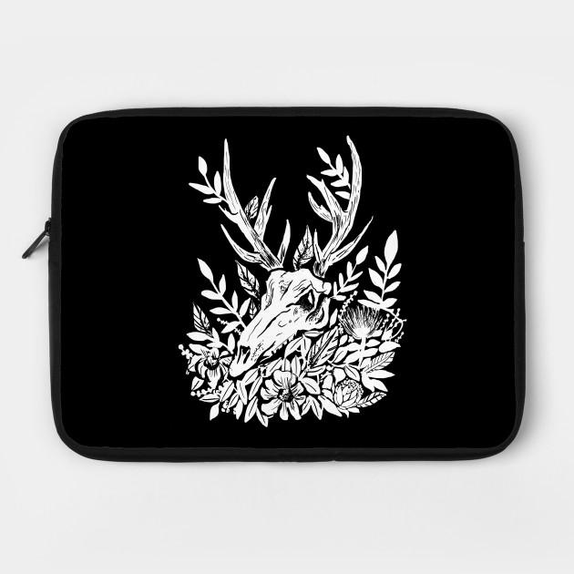 Memento Mori Deer Skull & Foliage Witchy Dark Mori Gothic Punk