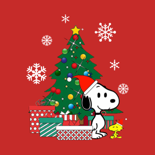snoopy and woodstock around the christmas gifts and merchandise teepublic - Snoopy Christmas Gifts