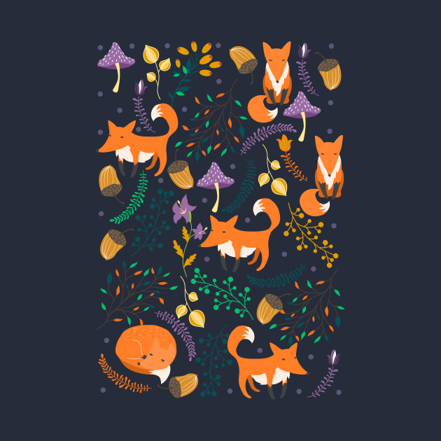 Foxes in the magic forest