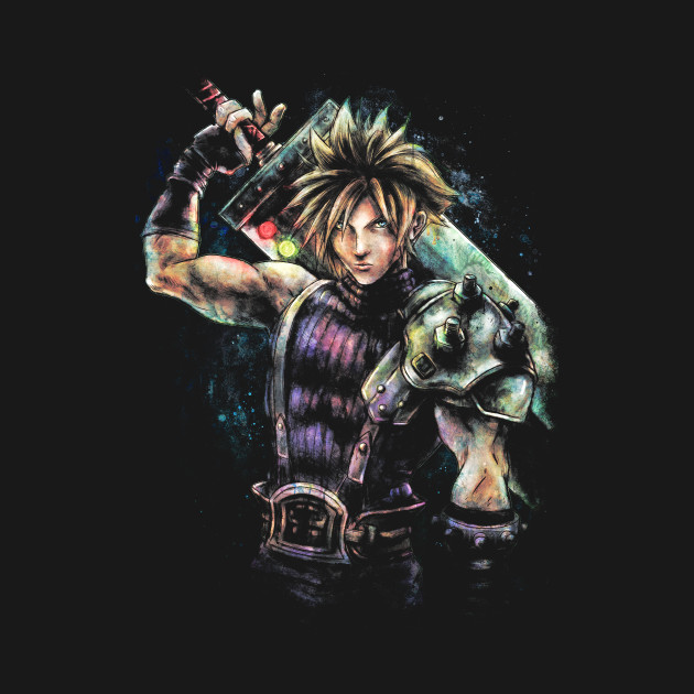 Epic Cloud Strife Final Fantasy VII portrait