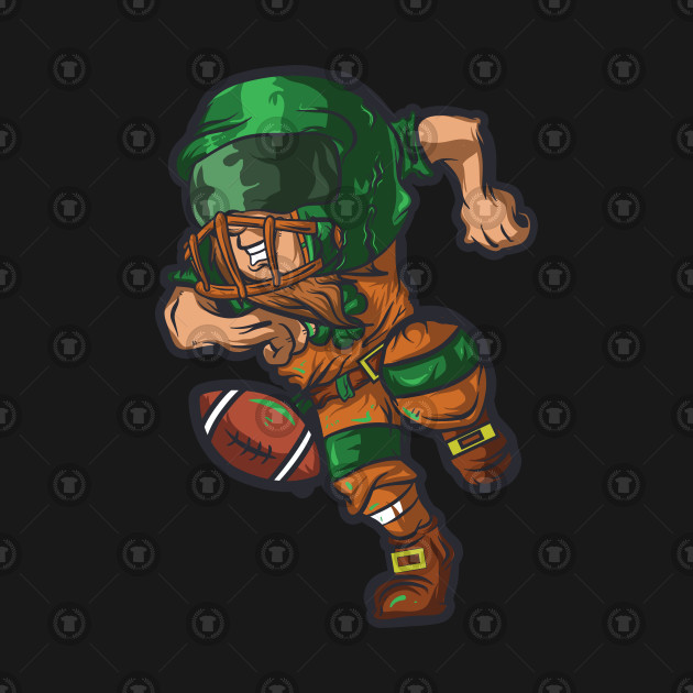 4145f0bc8 Leprechaun Football T Shirt St. Patrick's Day Irish Shamrock - St ...