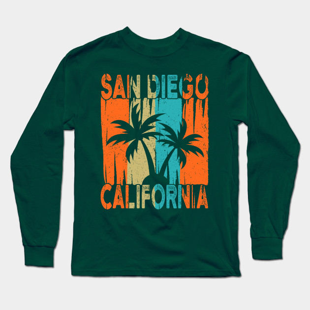 Long Sleeve Shirt San Diego California Tee Shirt