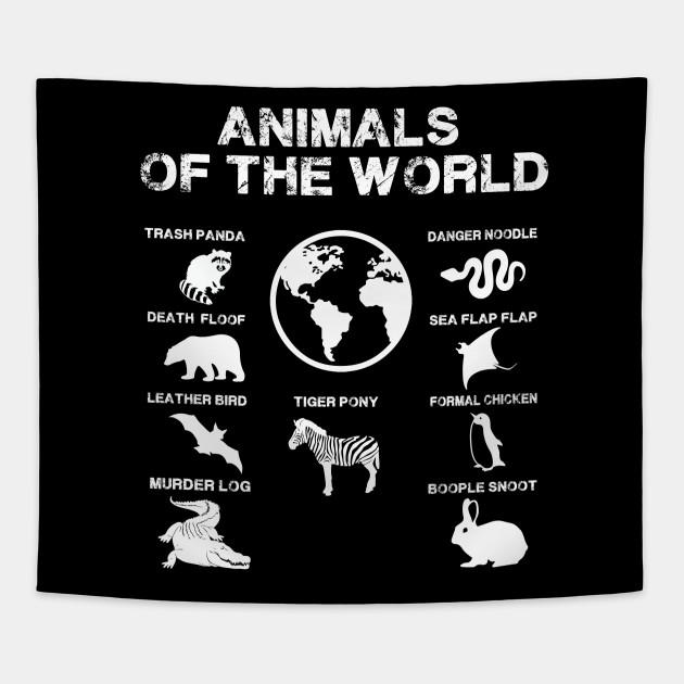 cdf5eb84b Rare Animals of The World Tshirt Snorg Tees Funny Gift Kids - Rare ...