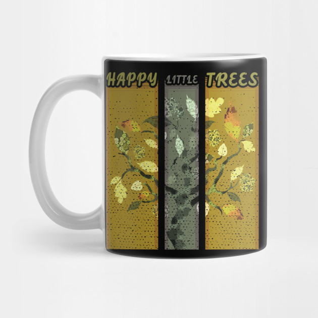 Happy little trees : Artists Gift : Ross Fan Mug