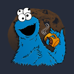 Coffee Cookie Monster t-shirts