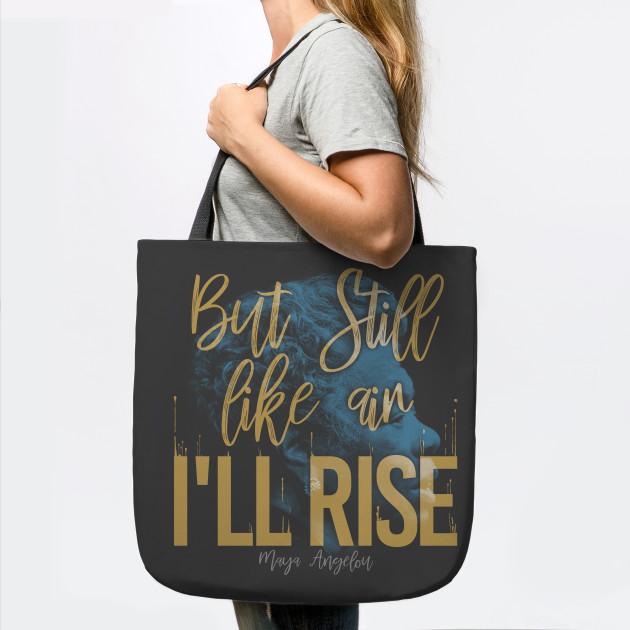 Maya Angelou /'Still I rise/' pink tote bag