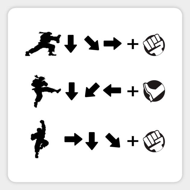 Street Fighter Moves Ryu Street Fighter Magnet Teepublic Au
