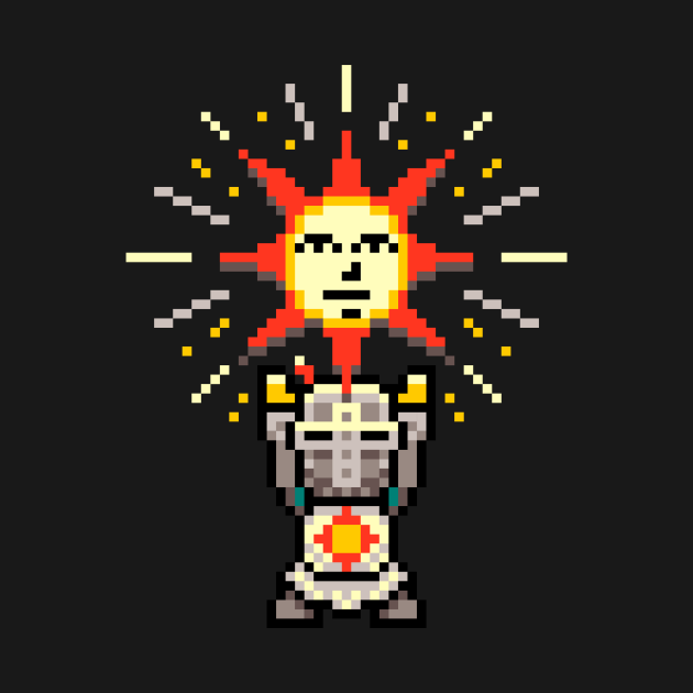 Praise the Pixel - Dark souls Solaire  - Pixel art