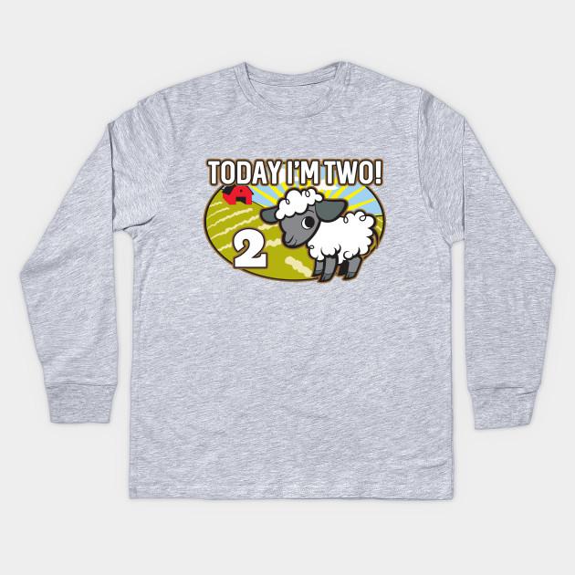 Kids 2nd Birthday T Shirt Today Im Two