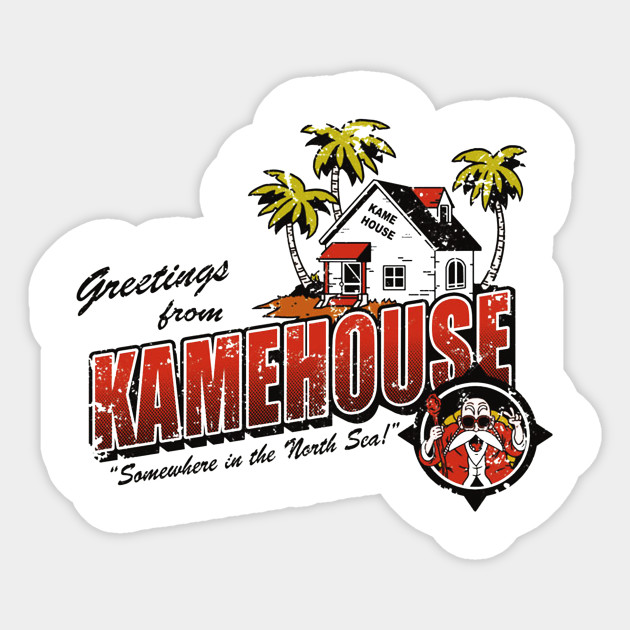 Greatings from kamehouse sticker