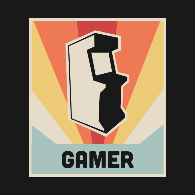 GAMER - Vintage Style Arcade Game Poster