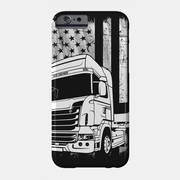 American Trucker Flag Awesome Trucking Truck Driver - American ... 74abe42f42bd