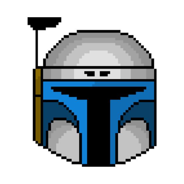 Jango Fett Pixel Helmet T Shirt Jango Fett Tote Teepublic