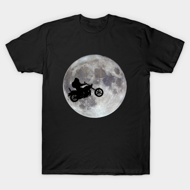 Big foot, big bike and a big bright moon