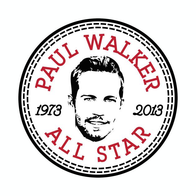 Paul Walker All Star Converse Logo Converse All Star Baseball T